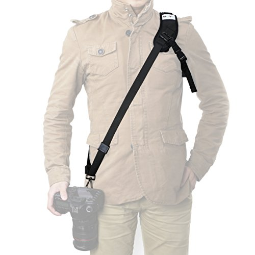 Movo NS-3 Rapid Action Over-The-Shoulder Camera Sling Strap with Quick Release Clip ...