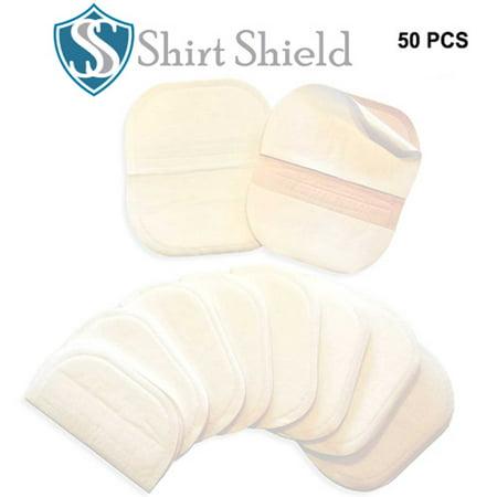Underarm Sweat & Perspiration Pads - Shirt Shield Sweat Protection Disposable Peel & Stick Absorbent Armpit Guards - Discreet, Comfortable, Sweat Free, Odor Blocker, Peel & Stick Dress Shields (Glad Odor Shield)