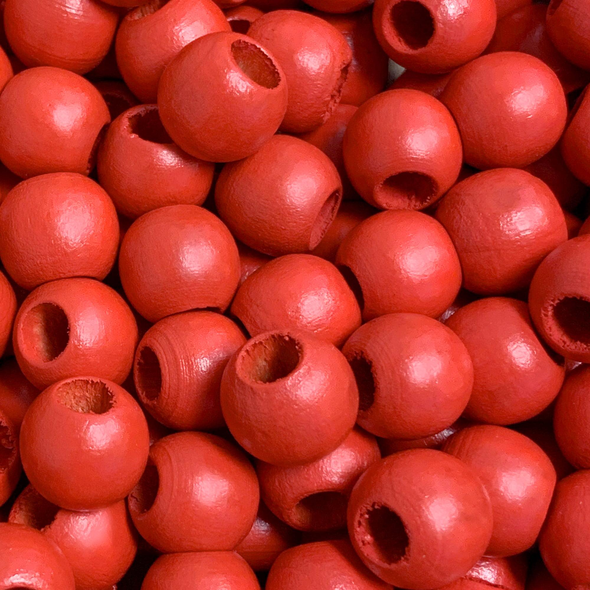 Polished 12 mm Diameter Meadow Green Rayher Wooden Beads FSC 100/% 12mm /ø