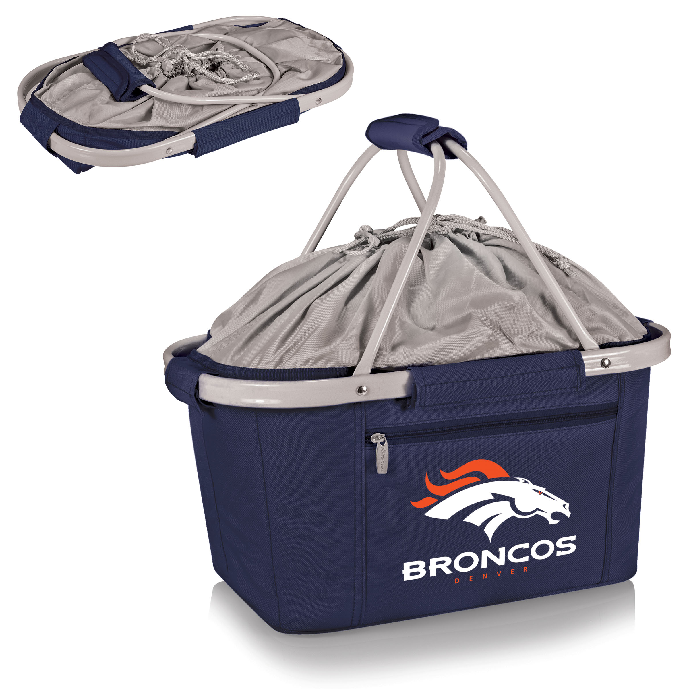 Denver Broncos Metro Basket Collapsible Tote - Navy - No Size