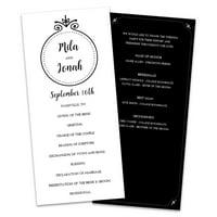 Personalized Couples Monogram Wedding Program