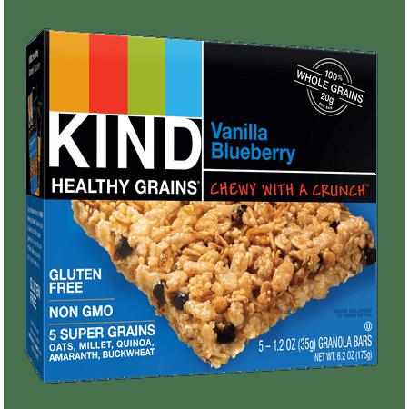 (3 Pack) KIND Healthy Grains Granola Bar, Vanilla Blueberry, 5 Bars, Gluten Free, Healthy Grains Bars