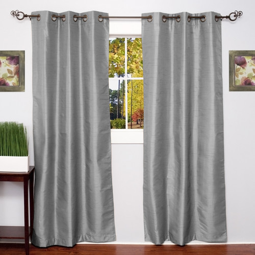 Sweet Home Collection Solid Thermal Blackout Curtain Panels (Set of 2)