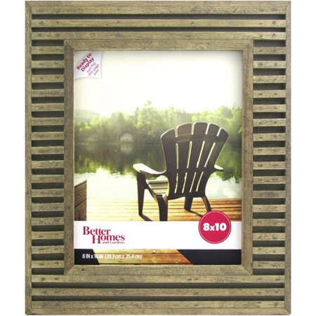 better homes and gardens tengben planks 8x10 brown picture frame