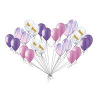 24 pc Unicorn & Fashion Agate Pink Lavender Latex Balloons Princess Birthday