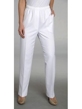 Alia Petite Solid Microfiber Pants