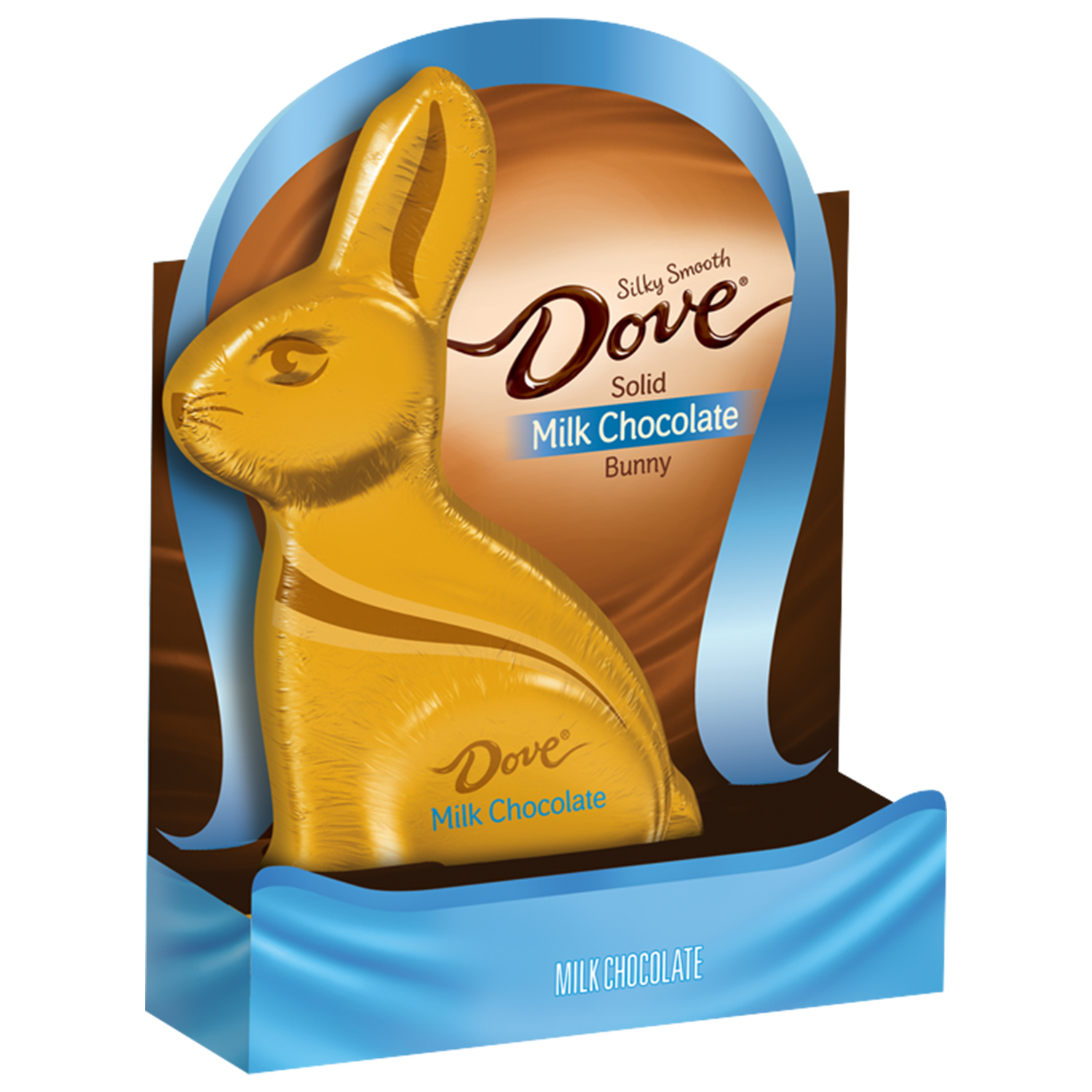 DOVE Easter Milk Chocolate Candy Solid Easter Bunny Box, 4.5 oz