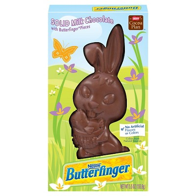 Butterfinger Easter Bunny Solid Milk Chocolate with Butterfinger pieces, 5.5 oz (PACK OF 4)