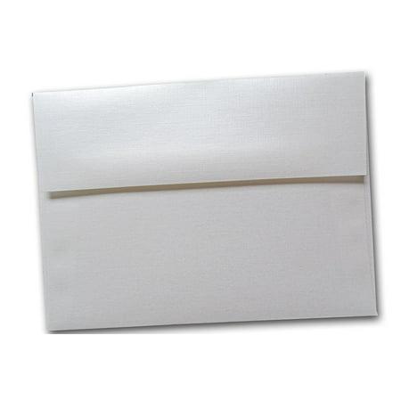 Classic Linen White Pearl A1 RSVP Envelopes - 25 - Pearl Envelopes