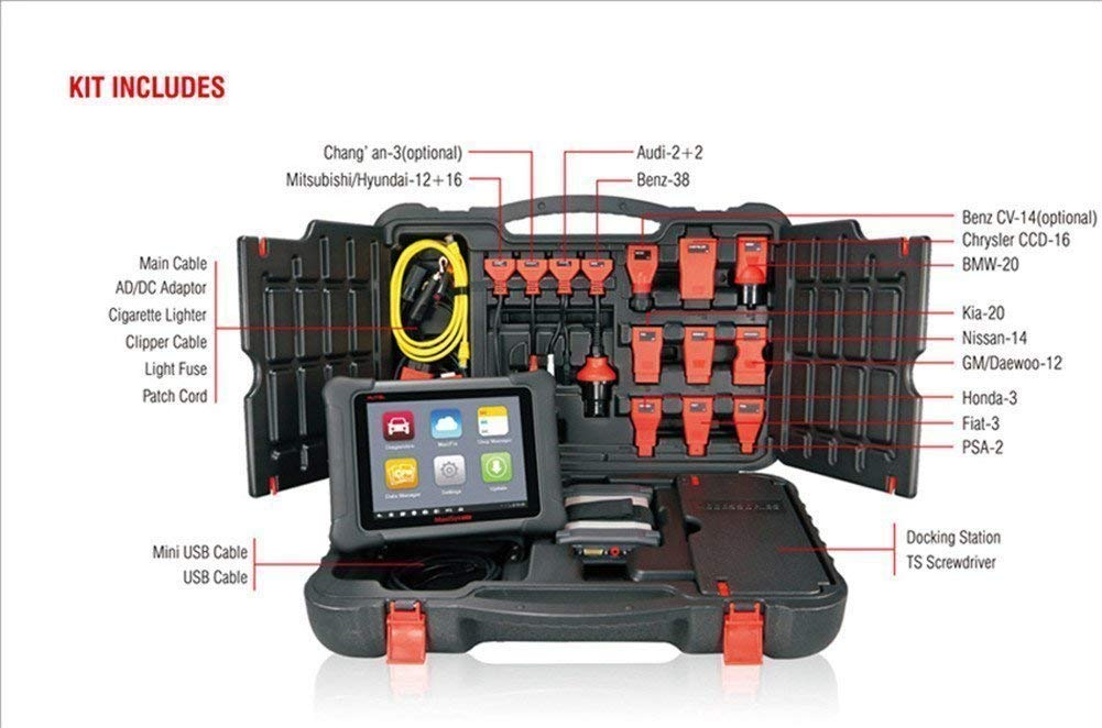 Autel Maxisys Elite /& MV105-Diagnostic Scanner with Specific Car ECU Coding/& Service and Inspection Video Scope with 2 Years Free Update