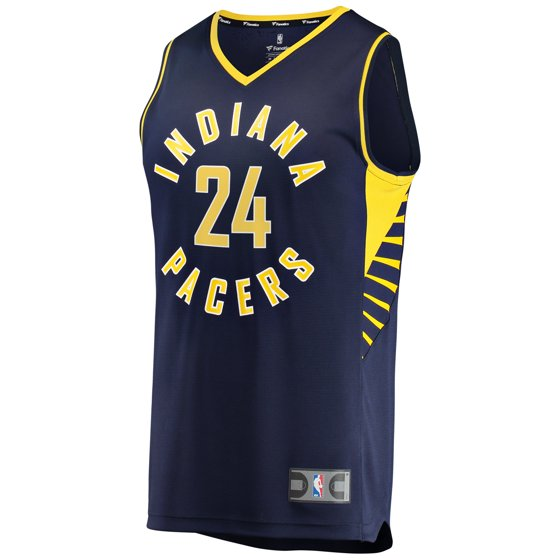 big sale 0415e 4814b Alize Johnson Indiana Pacers Fanatics Branded Fast Break Replica Jersey -  Icon Edition - Navy
