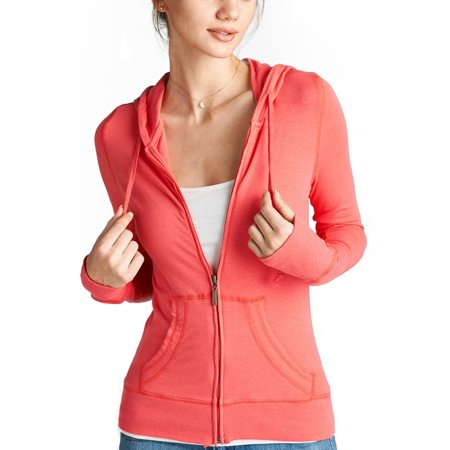 Solid Zip Up Hoodie -S-Bright (Rose Bowl Bound Hoody)
