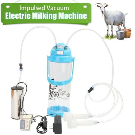 3L Goat Milker Electric Milking Machine Farm Sheep Cow Impulse Type Pump  US - image 5 of 10
