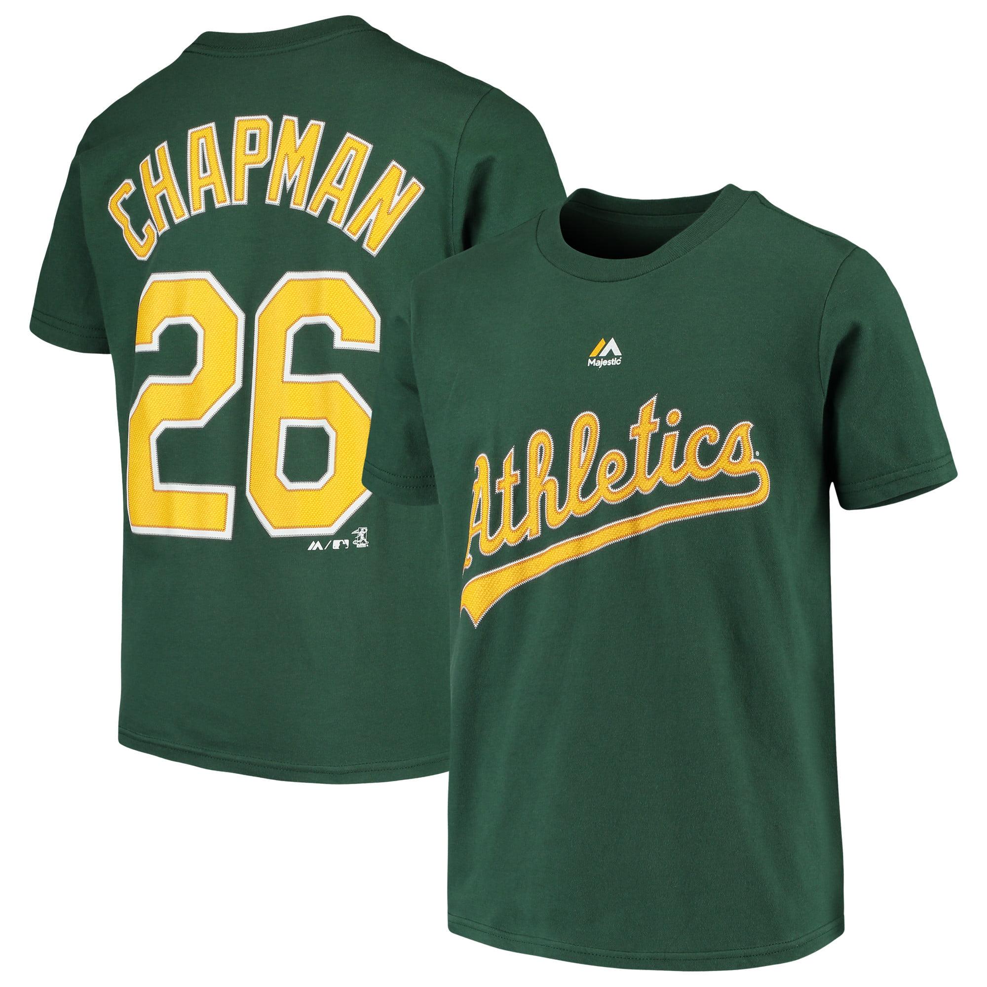 Matt Chapman Oakland Athletics Majestic Youth Name & Number T-Shirt - Green