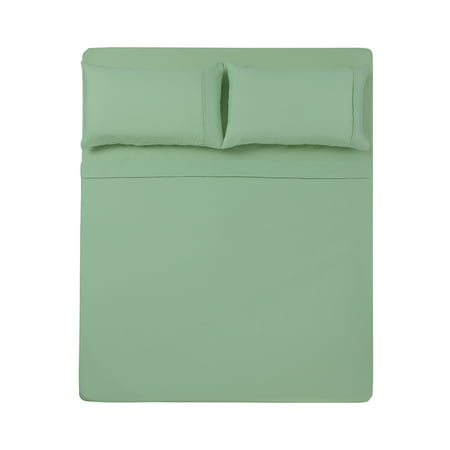 - 4 PC QUEEN SHEET SET MICROFIBER SOLID NILE GREEN -SERIES 1400-