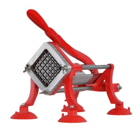 Commercial French Fry Cutter (VIVO Commercial Grade Red French Fry Cutter / Potato Slicer /  1/2 inch Blade (CUTR-F12))