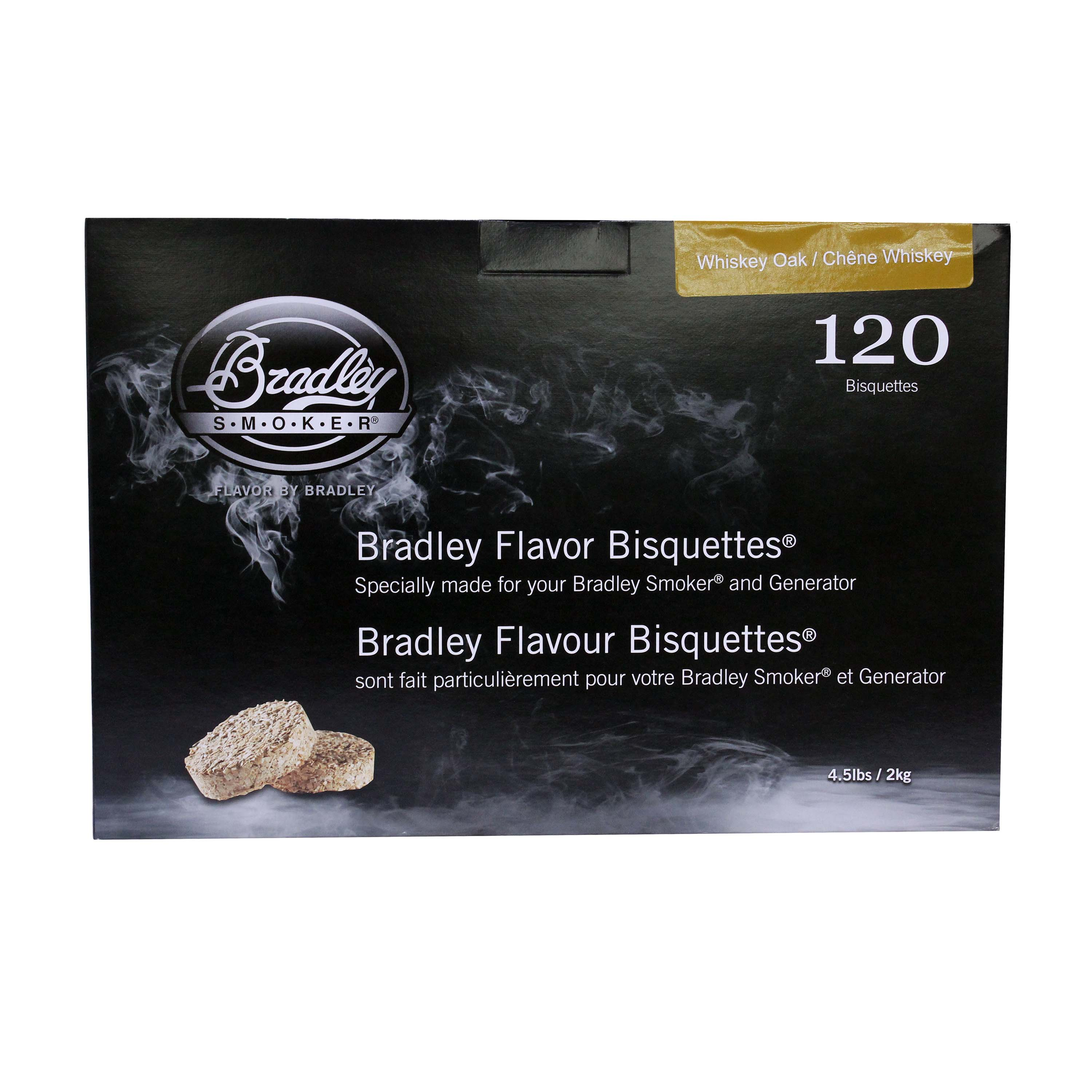 Bradley Smokers Smoker Bisquettes Whiskey Oak Special Edition, 120 Pack