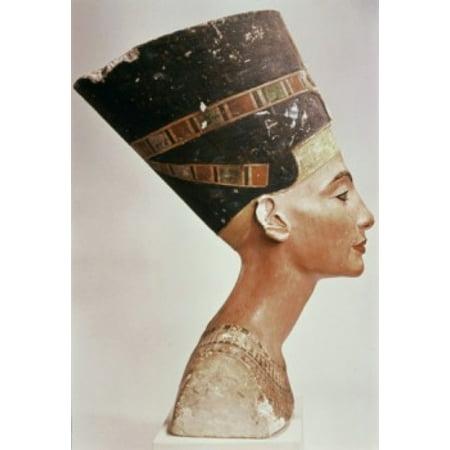 Bust of Queen Nefertiti (8 x 10) ca1352-36 BCE Limestone   Staatliche Museen Preussischer Kulturbesitz (8 x 10) Berlin Germany Poster Print (8 x