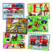 Chunky Raised Puzzles - Set of 6