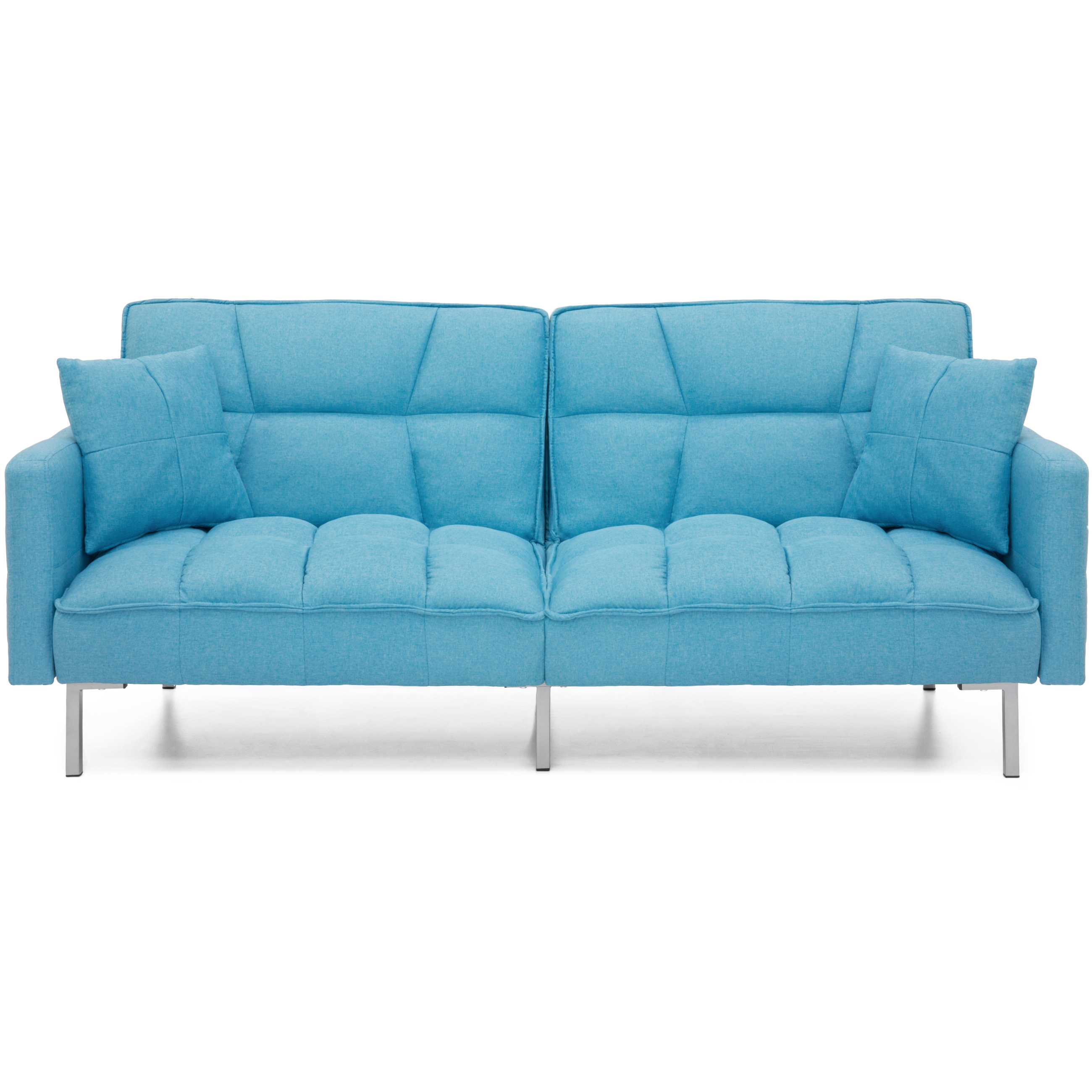 Click here to buy Best Choice Products Home Furniture Convertible Futon Linen Tufted Split Back Couch W ... by Best Choice Products.