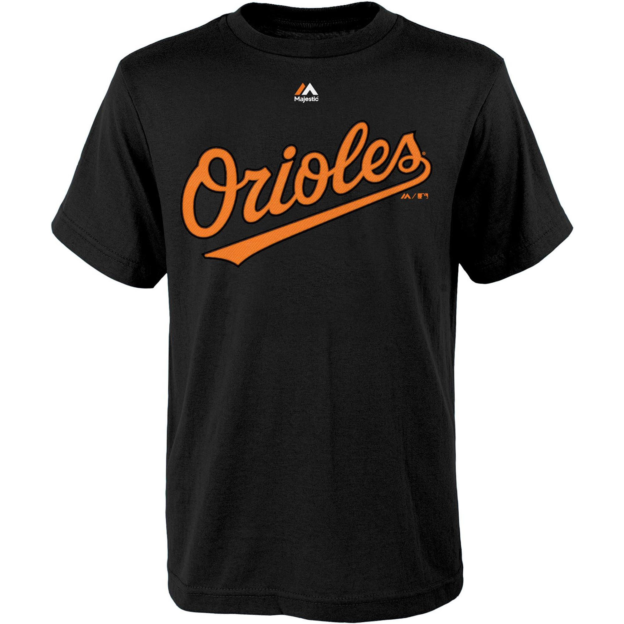 Baltimore Orioles Majestic Youth Official Wordmark T-Shirt - Black