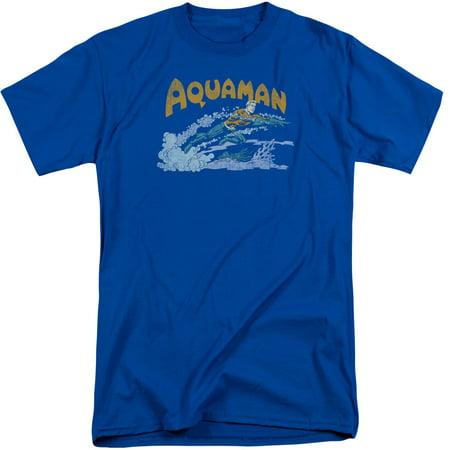 Dc Comics Aqua Swim Mens Big And Tall Shirt