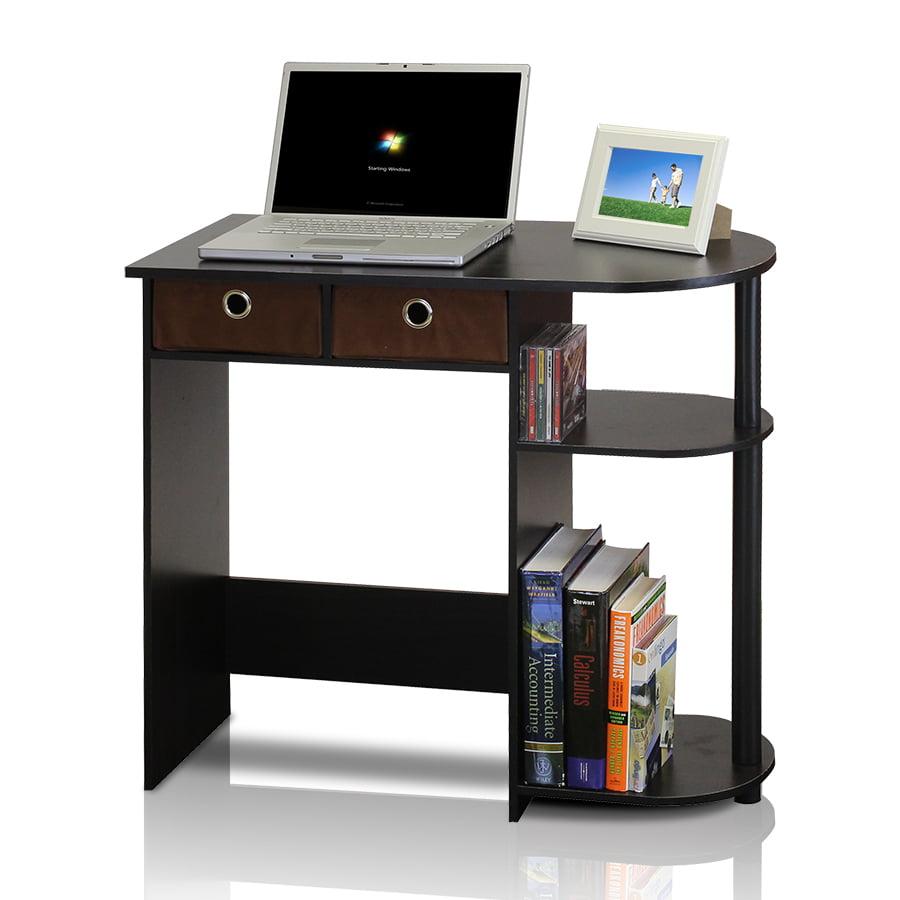 Furinno Go Green Home Laptop Notebook Computer Desk Table Espresso Black Brown Com