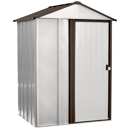 Instant Storage Shed (Newburgh 5 x 4 ft. Steel Storage Shed Coffee/Eggshell)