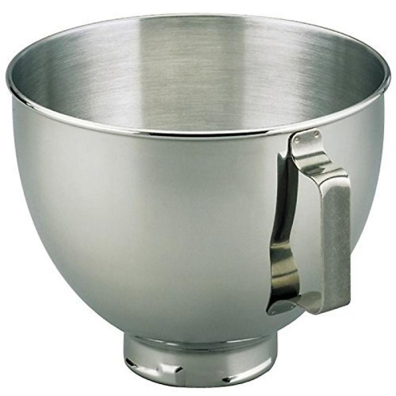 KitchenAid Stainless Steel Bowl, 4.5 Quart Additional Mixer Bowl, K45sbwh