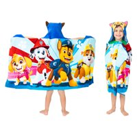 PAW Patrol Kids Bath and Beach Hooded Towel Wrap, 100% Cotton