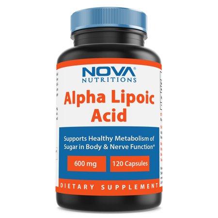 600 Mg Nutrition Herbs - Nova Nutritions Alpha Lipoic Acid 600 mg 120 Capsules