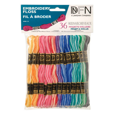Variegated Embroidery Floss: Cotton Floss, 36 pack