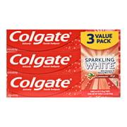 Colgate Sparkling White Cinnamint 6 oz. Toothpaste, 3 Pack