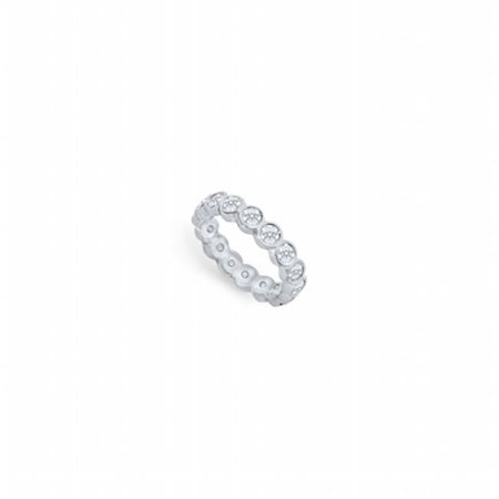 Fine Jewelry Vault UBPTR150D210-5-101RS4.5 1.5 CT Platinum Diamond Eternity Band Second Wedding Anniversary Diamond Bands Diamond Ring - Size 4.5
