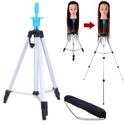 "Mannequin Head Holder Tripod Stand, 55"" Adjustable Stand Holder for Beauty Hair Salon Hairdressing Training with Carry Bag"