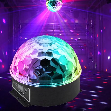 6 Colors LED Crystal Magic Ball Effect Light Disco DJ Stage Party