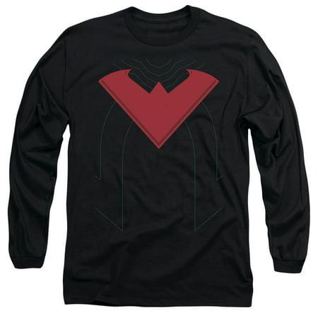 Batman Nightwing 52 Costume Mens Long Sleeve Shirt