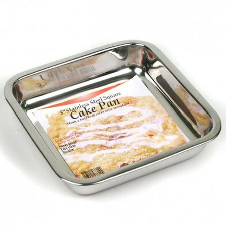 "Norpro 8"" SQUARE PAN Stainless Steel Cake/Brownie/Cornbread/Desserts Handwashing"