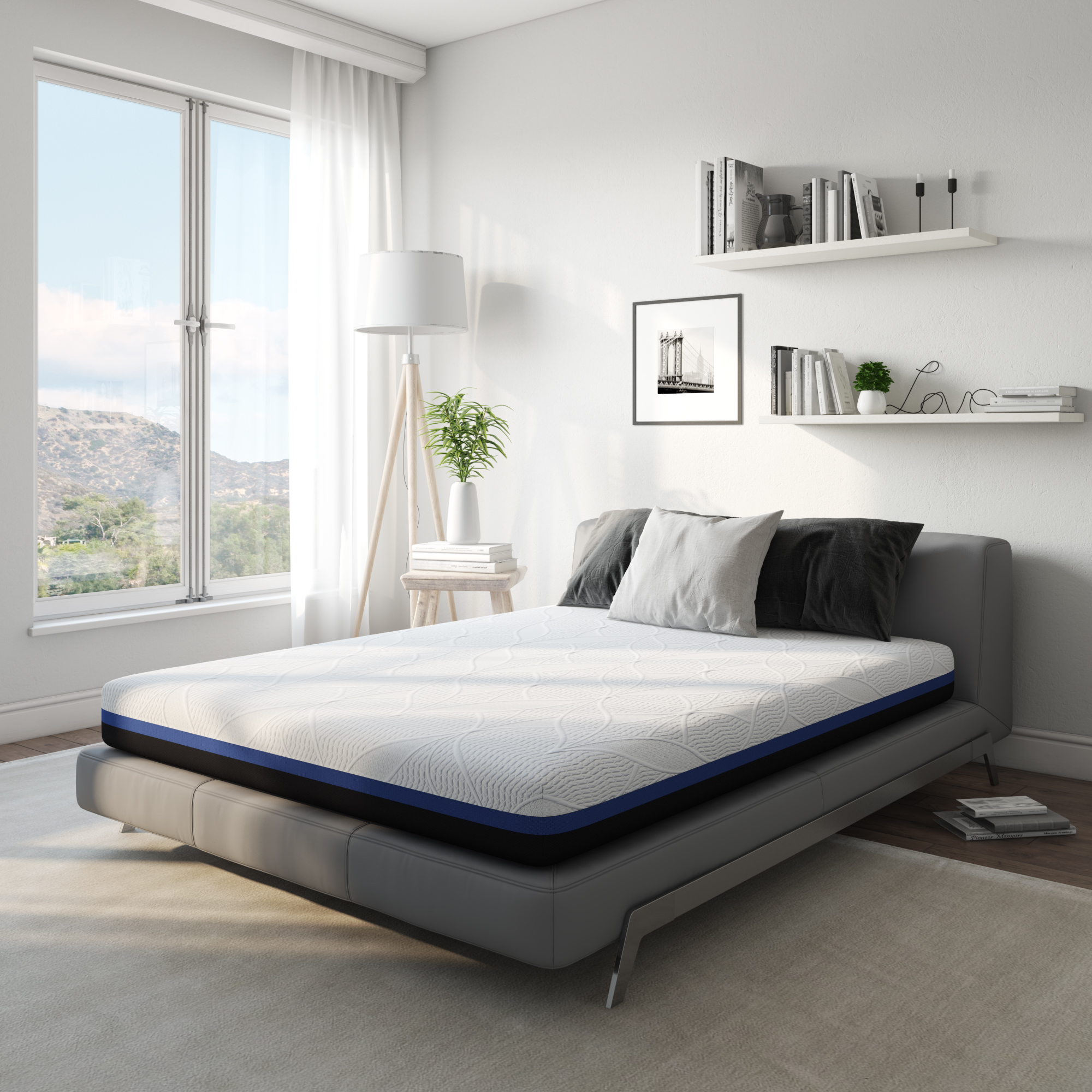 Modern Sleep Surrey Hybrid Gel Memory Foam and Innerspring 12-Inch Mattress, Multiple Sizes