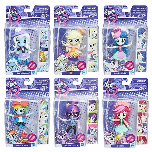 Hasbro HSBC0839 My Little Pony Mini Character, Assorted Colors - Set of 6