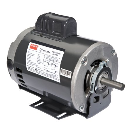 Dayton 1 HP Belt Drive Motor, Capacitor-Start, 1725 Nameplate RPM, 115/208-230 Voltage, Frame 56 -