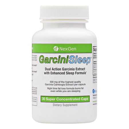 GarciniSleep - 500mg Garcinia per capsule 60% HCA. Stimulant free night-time Garcinia diet pills for weight loss, appetite suppression, enhanced sleep, and decreased cortisol