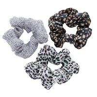 Lokks Leopard Print Scrunchies, 3 pack