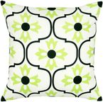 """Rizzy home T05646 18"""" x 18"""" black cotton canvas decorative filled pillow"""