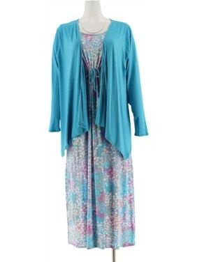 Carole Hochman Hydrangea Maxi Dress Set A273582