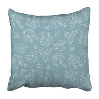 ARHOME Christmas Botanical with Poinsettia Flowers and Holly Berries Thin Line Design Xmas Pillowcase 18x18 inch
