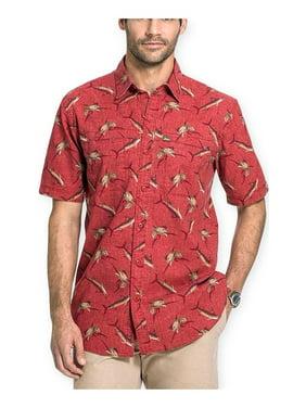 G.H. Bass & Co. Mens Shark Print Button Up Shirt