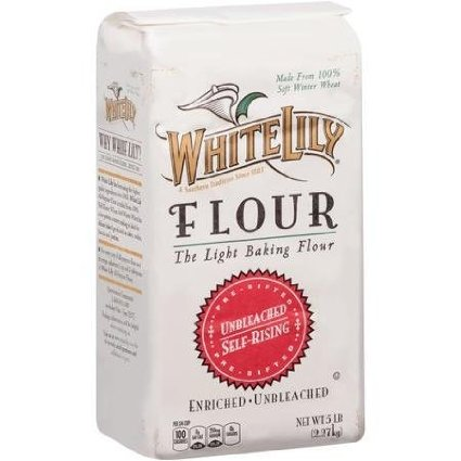 8 pack : White Lily Unbleached Self-Rising Flour - 5 lbs