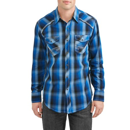 Heritage Plaid Shirt - Men's Long Sleeve Plaids With Accent Stitch Piping At Yokes Shirt