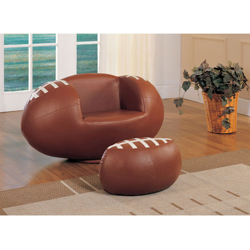 Acme All Star Football 2-Piece Chair and Ottoman Set by Acme